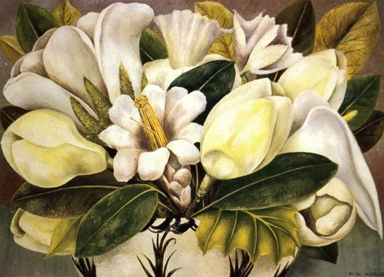 Frida Kahlo Paintings - Frida Kahlo Magnolias PaintingFrida Kahlo Famous Paintings Still Life