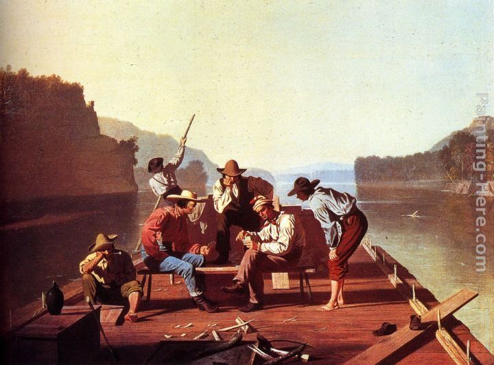 George Caleb Bingham Ferrymen Playing Cards