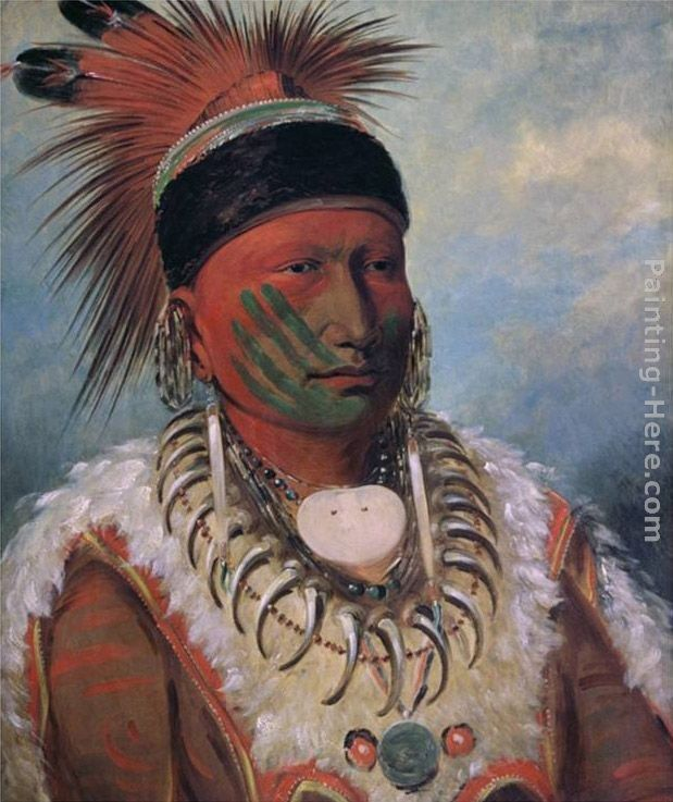 George Catlin White Cloud, Chief of the Iowas