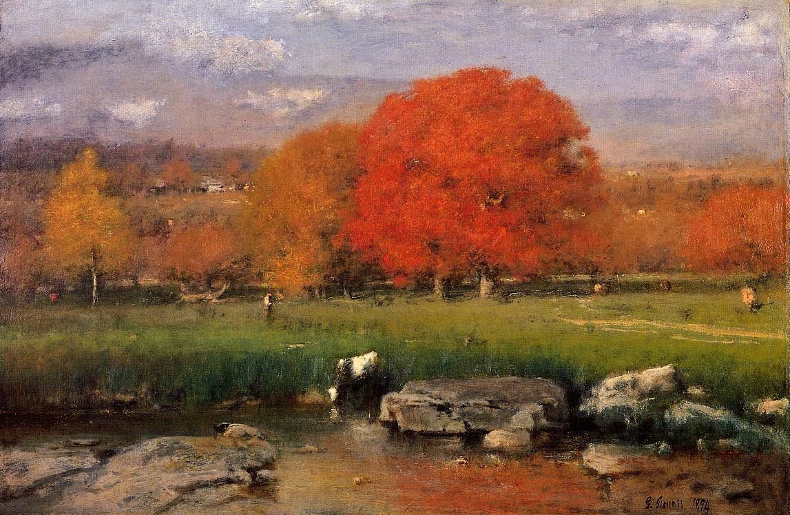 George Inness Morning Catskill Valley