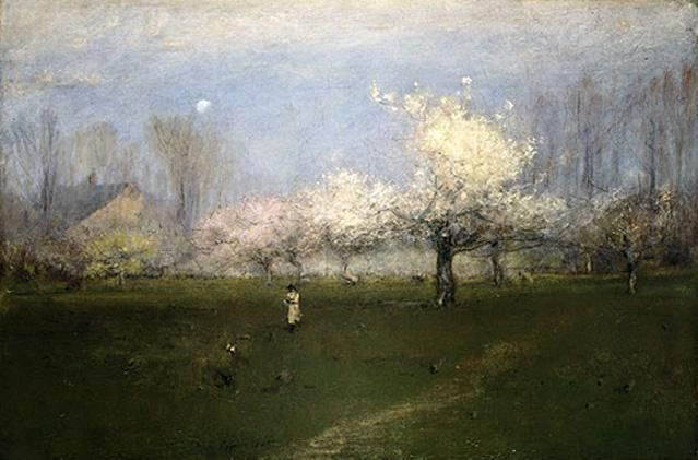 George Inness Spring Blossoms New Jersey