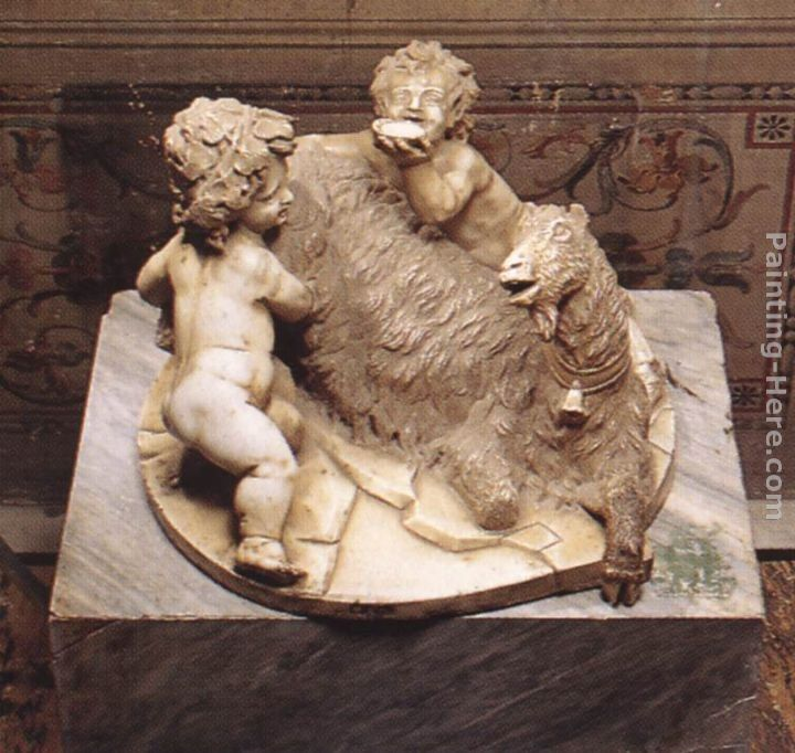 Gian Lorenzo Bernini The Goat Amalthea with the Infant Jupiter and a Faun