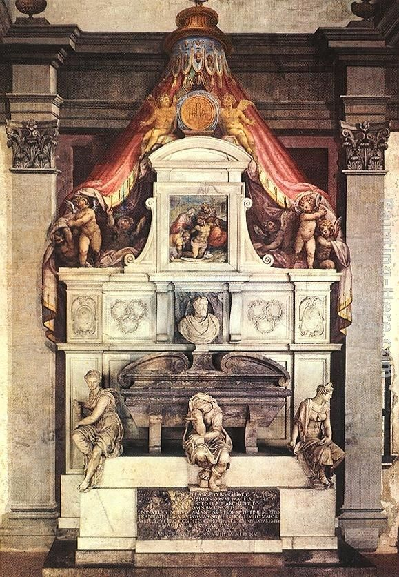 Giorgio Vasari Monument to Michelangelo