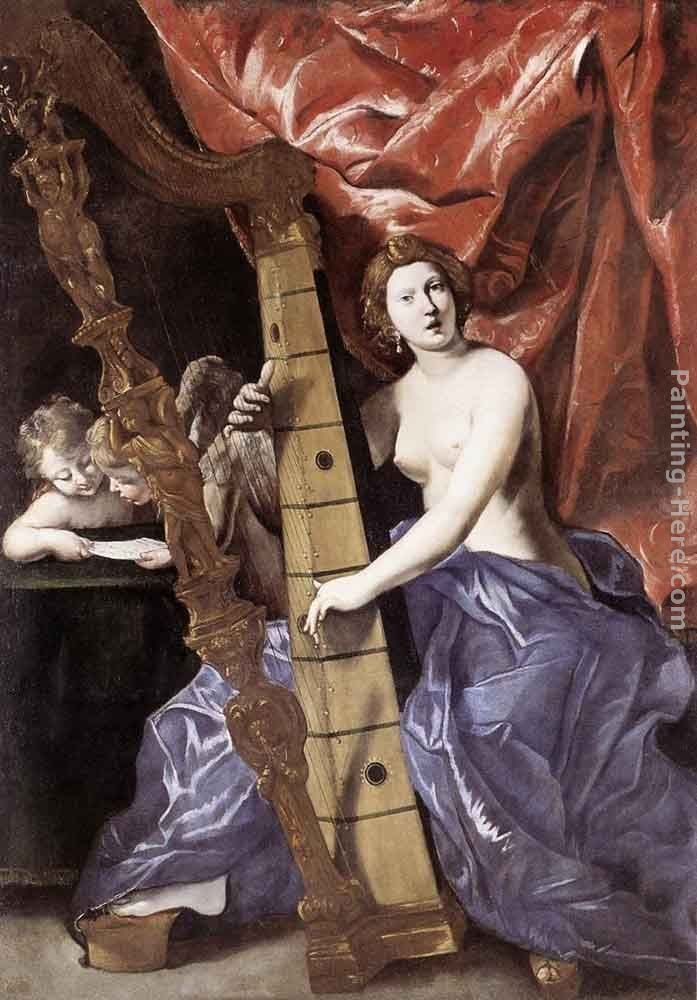 Giovanni Lanfranco Venus Playing the Harp (Allegory of Music)