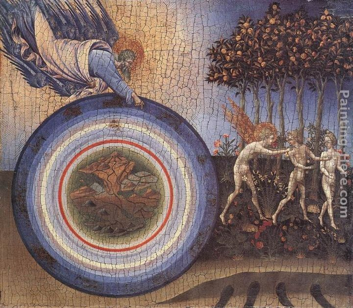 Giovanni di Paolo The Creation and the Expulsion from the Paradise