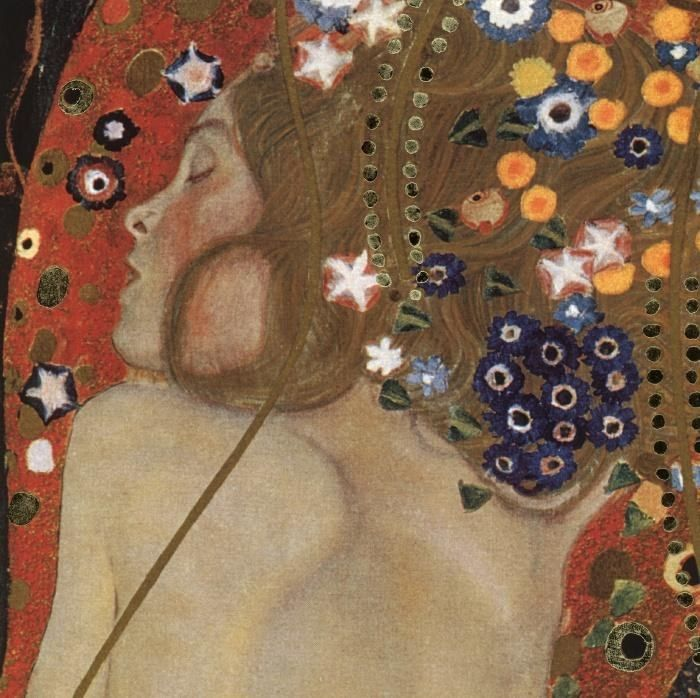 Gustav Klimt Sea Serpents IV (detail)