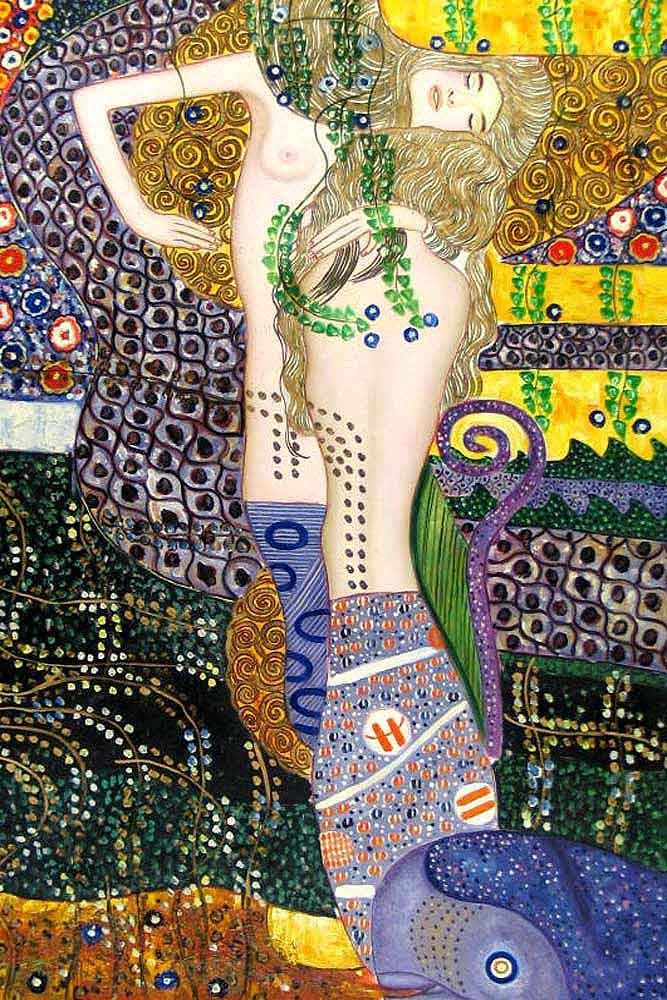 Gustav Klimt Sea Serpents
