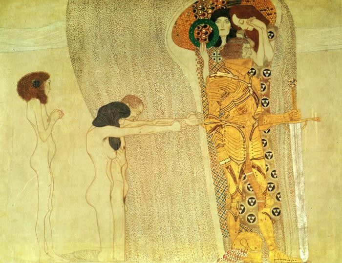 Gustav Klimt The Beethoven Frieze