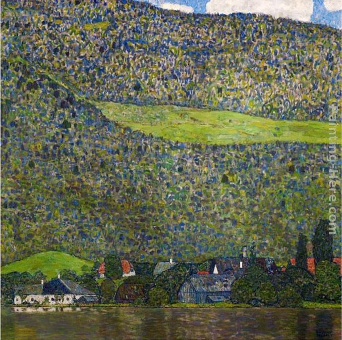Gustav Klimt Unterach on Lake Attersee, Austria