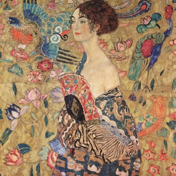 Gustav Klimt lady with fan