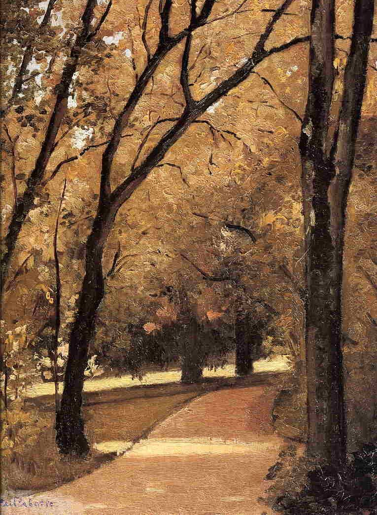 Gustave Caillebotte Yerres, Path Through the Old Growth Woods in the Park