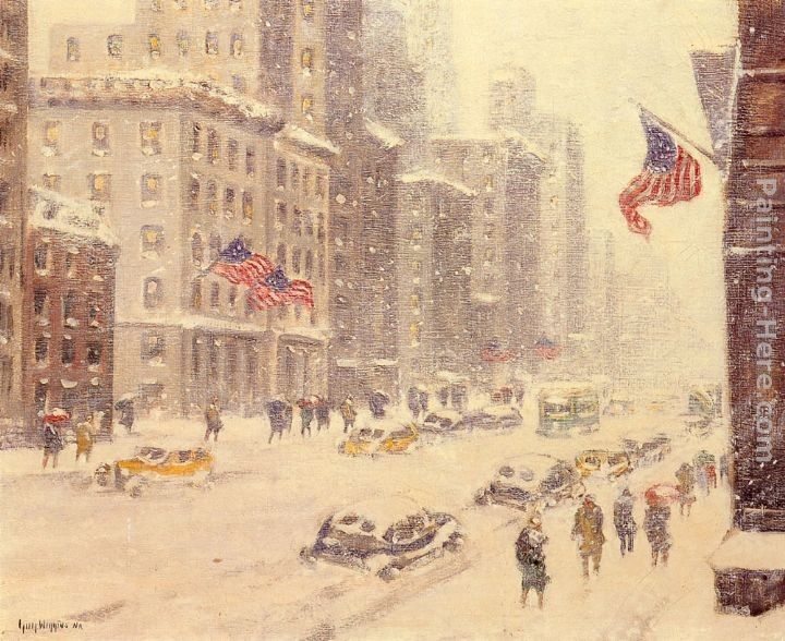 Guy Carleton Wiggins Winter's Day, Fifth Avenue