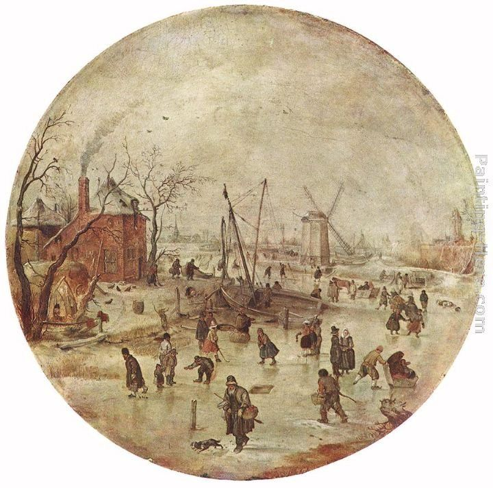 Hendrick Avercamp Winter Landscape with Skaters