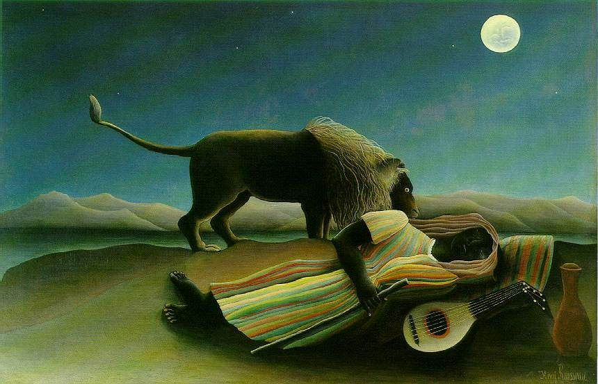 Henri Rousseau Sleeping Gypsy