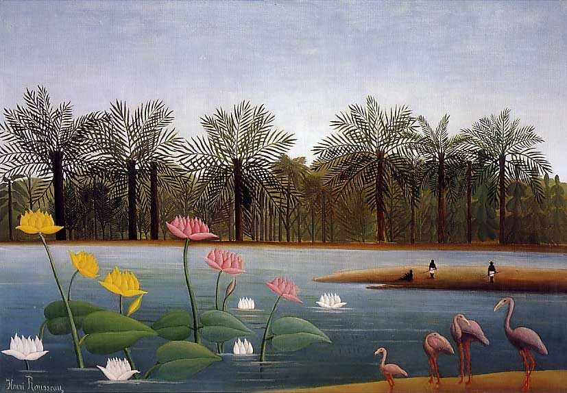 Henri Rousseau The Flamingos