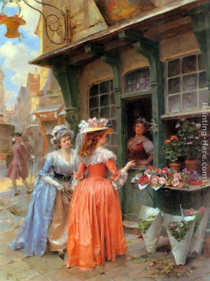 Henri Victor Lesur The Flower Market
