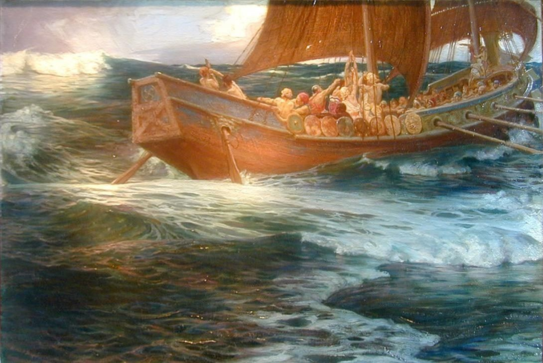 Herbert James Draper Wrath of the Sea God