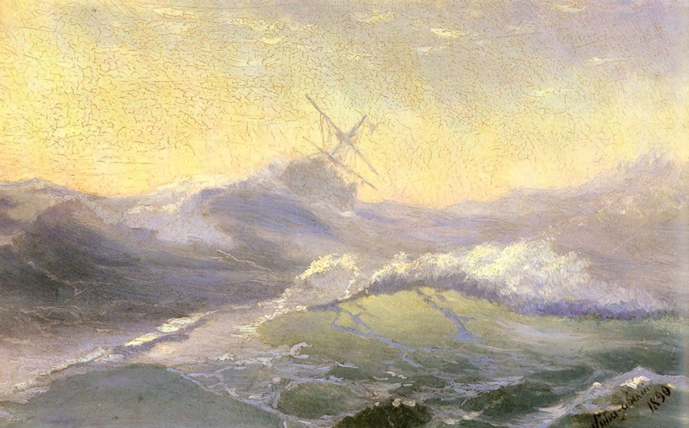 Ivan Constantinovich Aivazovsky Bracing the Waves