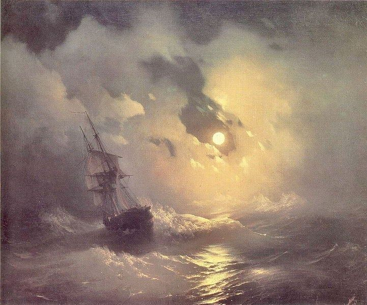Ivan Constantinovich Aivazovsky Storm in the Sea at Night
