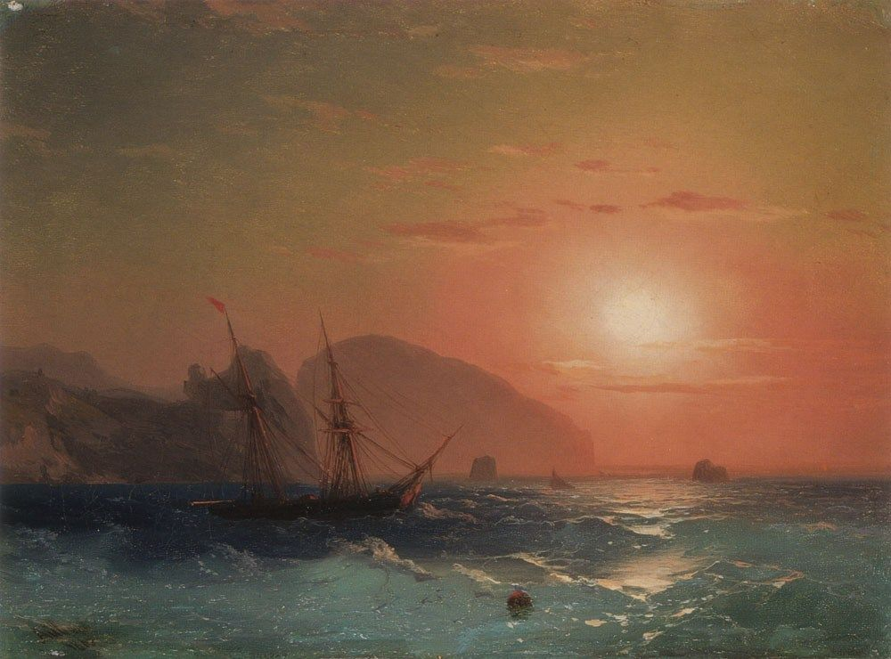 Ivan Constantinovich Aivazovsky View Of The Ayu Dag Crimea