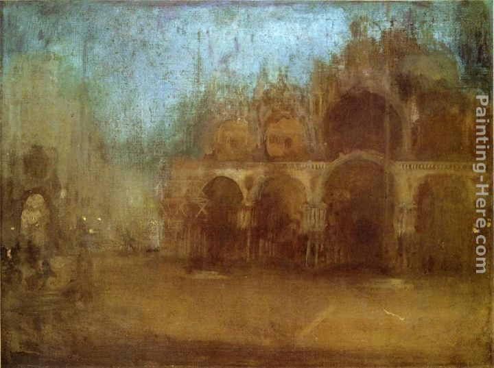 James Abbott McNeill Whistler Nocturne Blue and Gold - St Mark's, Venice