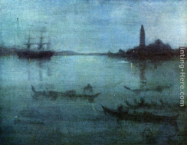 James Abbott McNeill Whistler Nocturne in Blue and Silver The Lagoon, Venice