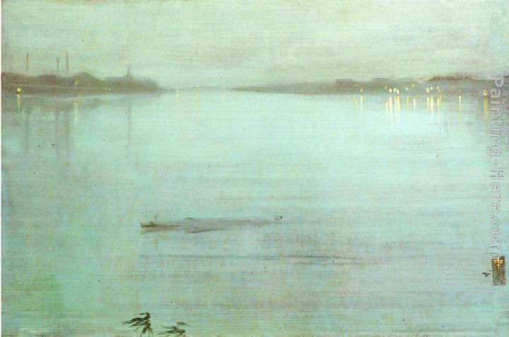 James Abbott McNeill Whistler Nocturne- Blue and Silver