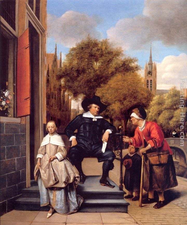 Jan Steen A Burgher of Delft and His Daughter