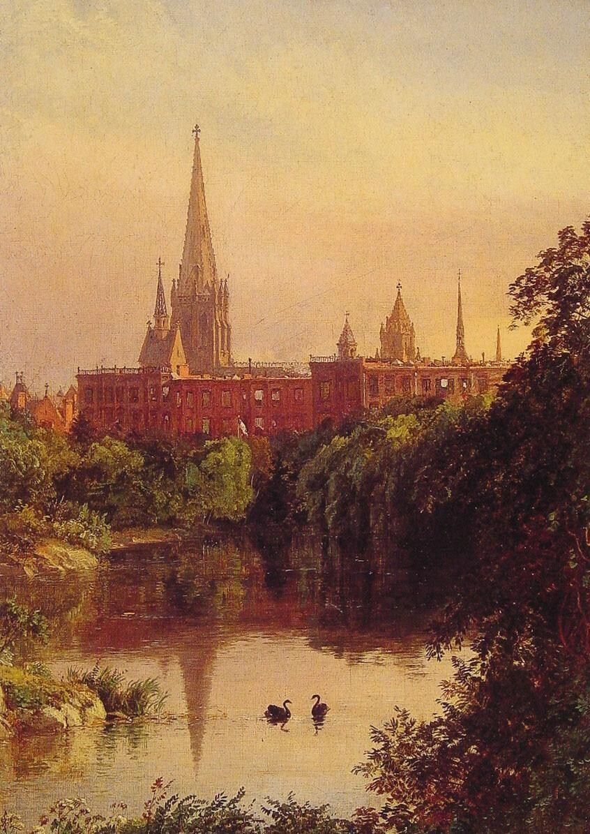 Jasper Francis Cropsey A View in Central Park