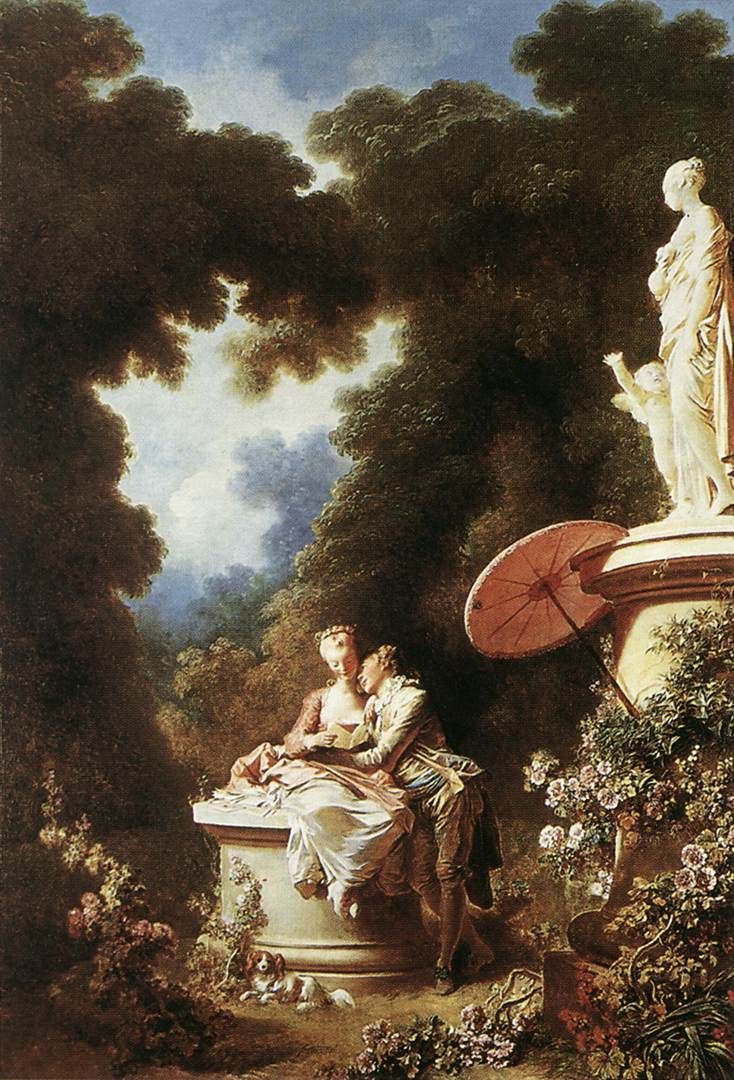 Jean-Honore Fragonard The Confession of Love