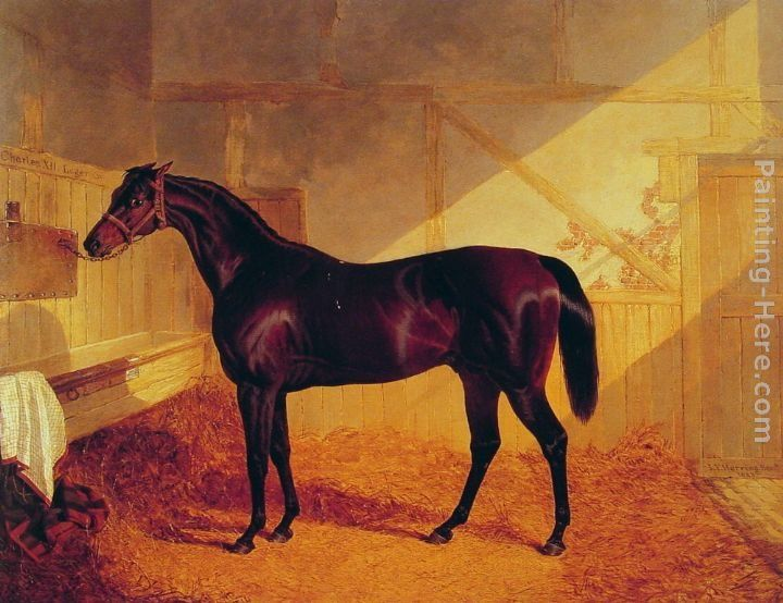 John Frederick Herring Snr Mr Johnstone's Charles XII in a Stable