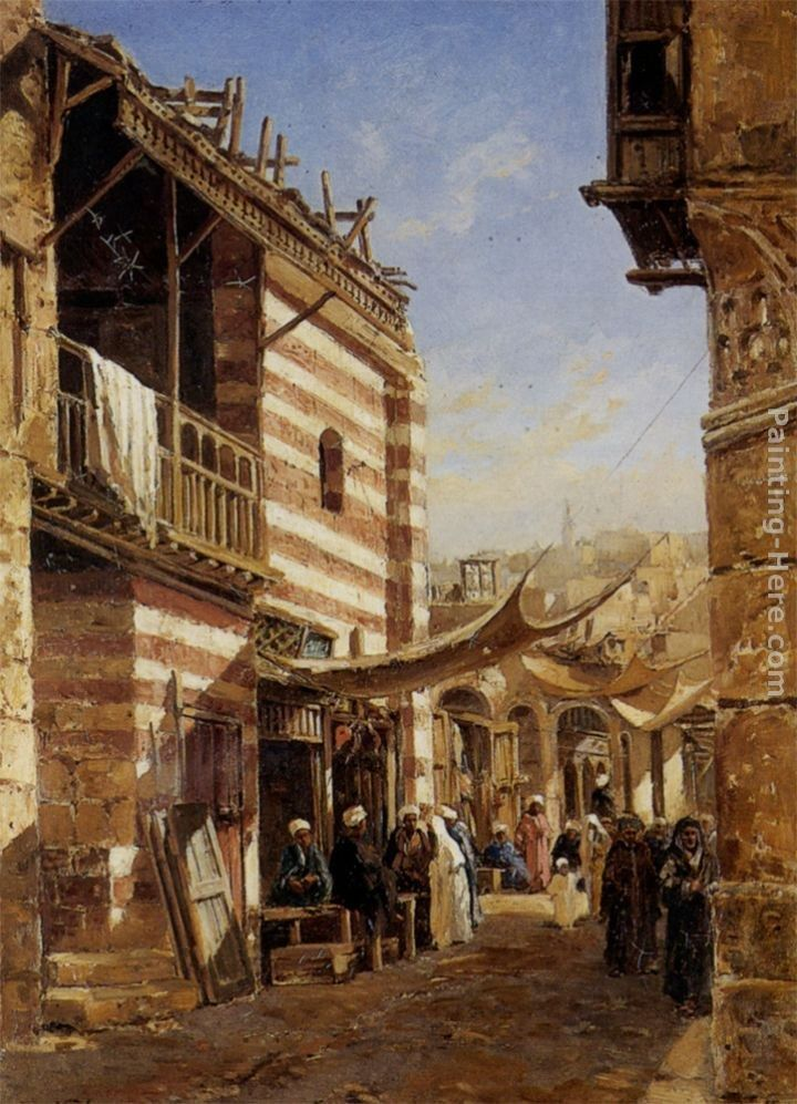 John Varley The School near the Babies Sharouri Cairo