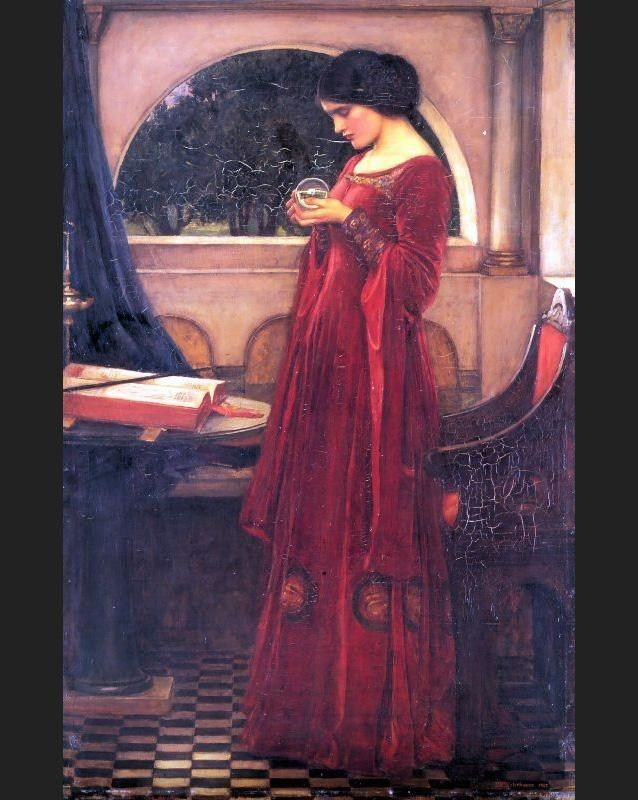 John William Waterhouse Crystal Ball