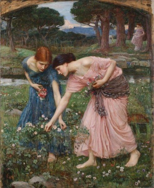 John William Waterhouse Gather ye rosebuds while ye may I
