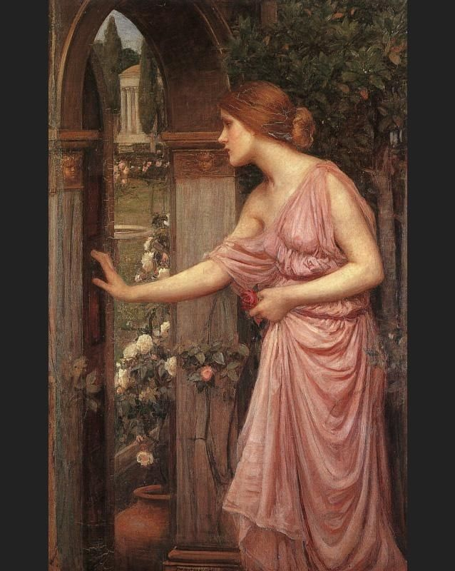John William Waterhouse Psyche Entering Cupid's Garden