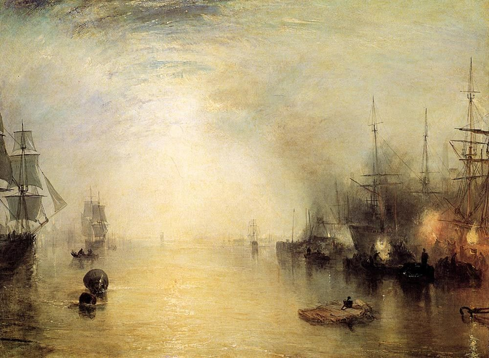 Joseph Mallord William Turner Keelmen heaving in coals by night