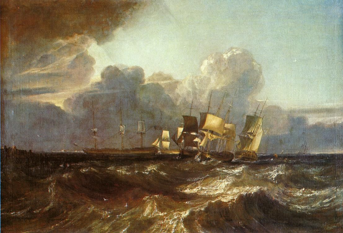 Joseph Mallord William Turner Ships Bearing Up for Anchorage