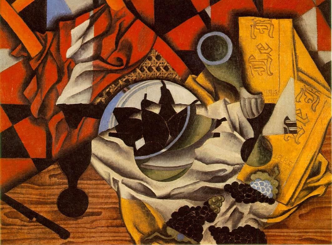 Juan Gris Pears and Grapes on a Table