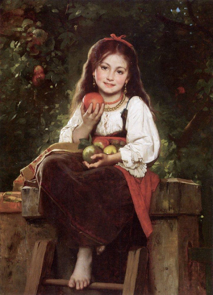 Leon Bazile Perrault The Apple Picker