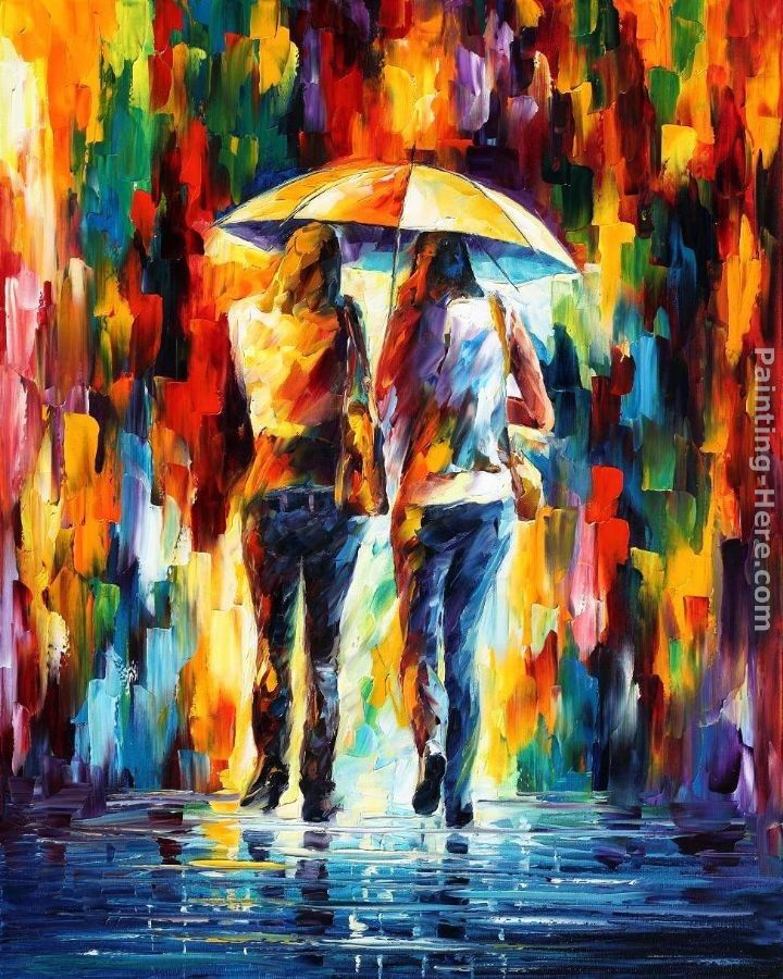 Leonid Afremov FRIENDS UNDER THE RAIN