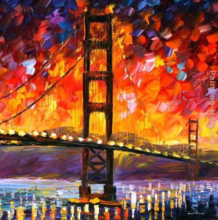 Leonid Afremov GOLDEN GATE BRIDGE