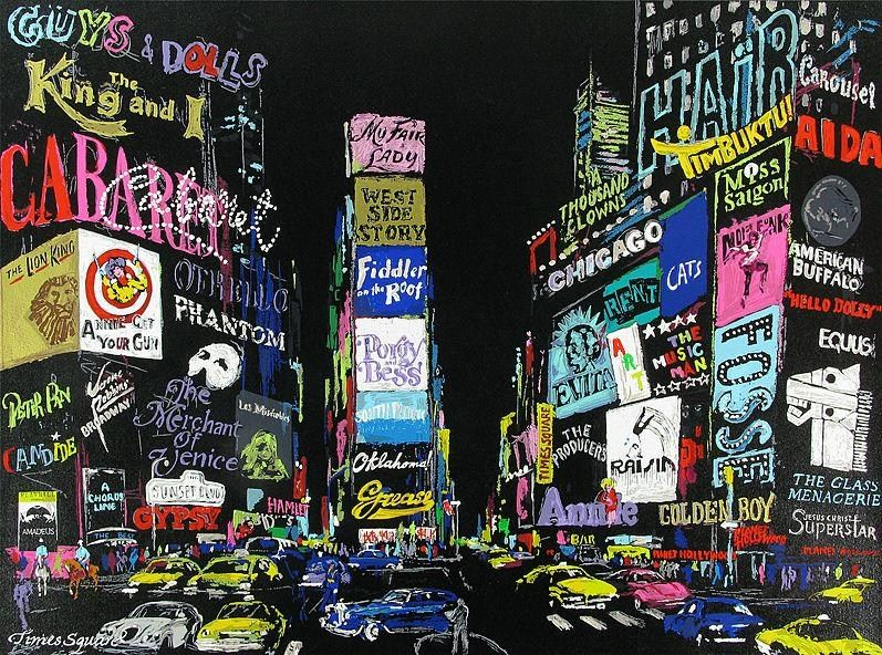 Leroy Neiman Lights of Broadway