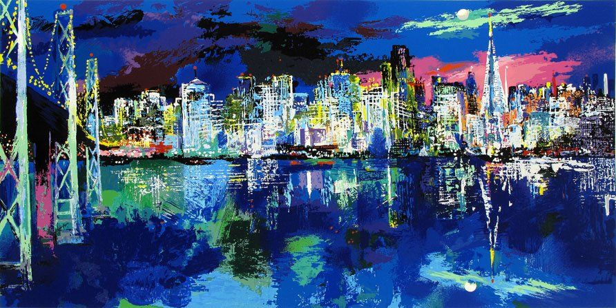 Leroy Neiman San Francisco by Night