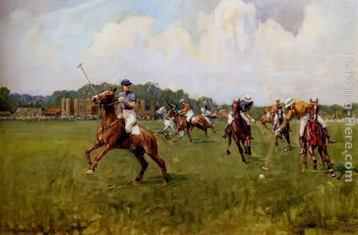 Lionel Edwards Playing Polo At Cowdray Park, West Sussex