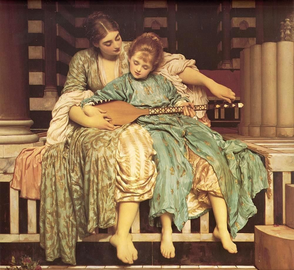 Lord Frederick Leighton Leighton Music Lesson
