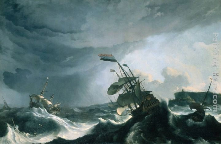 Ludolf Backhuysen Ships in Distress in a Heavy Storm