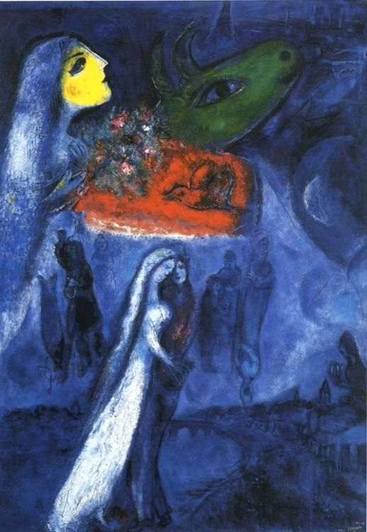 Marc Chagall On Two Banks