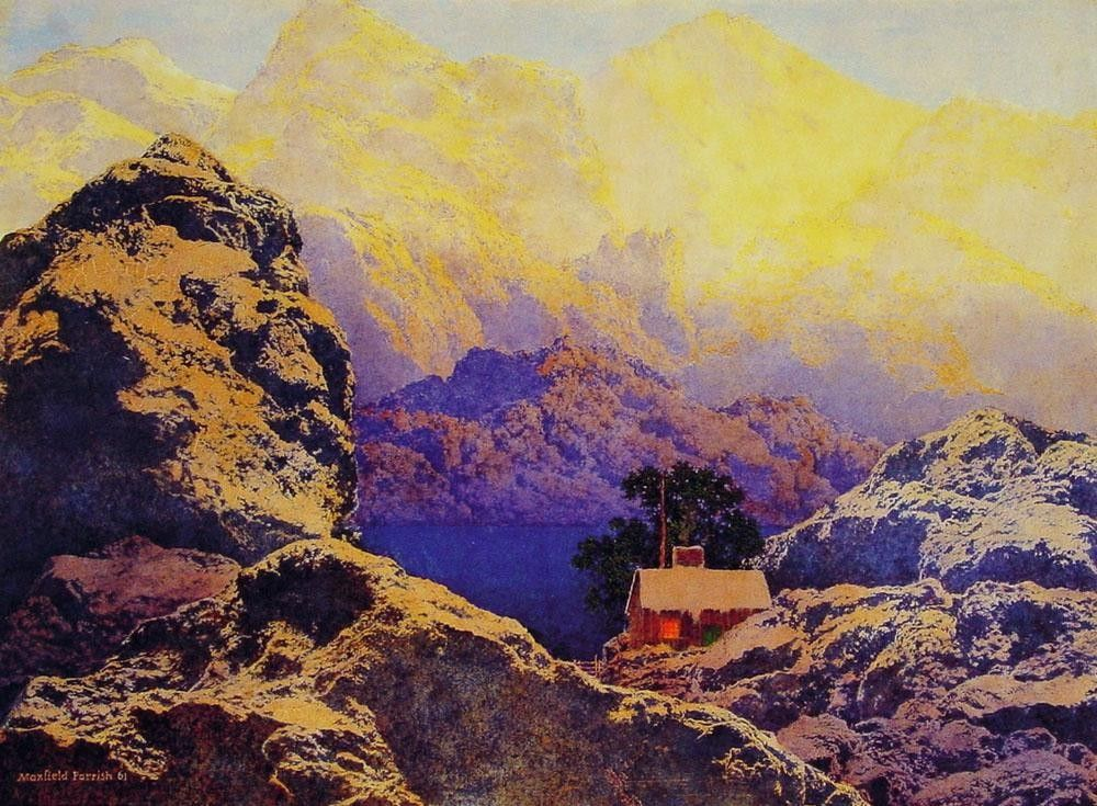 Maxfield Parrish Getting away from it all