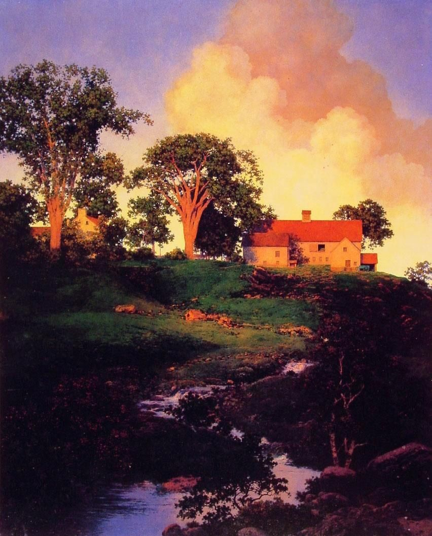 Maxfield Parrish Hunt Farm