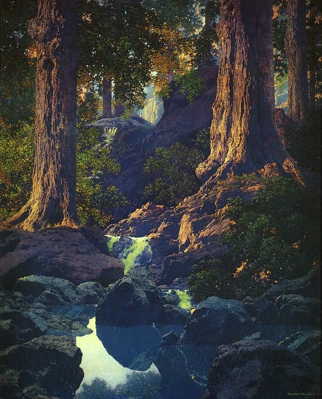 Maxfield Parrish The Glen